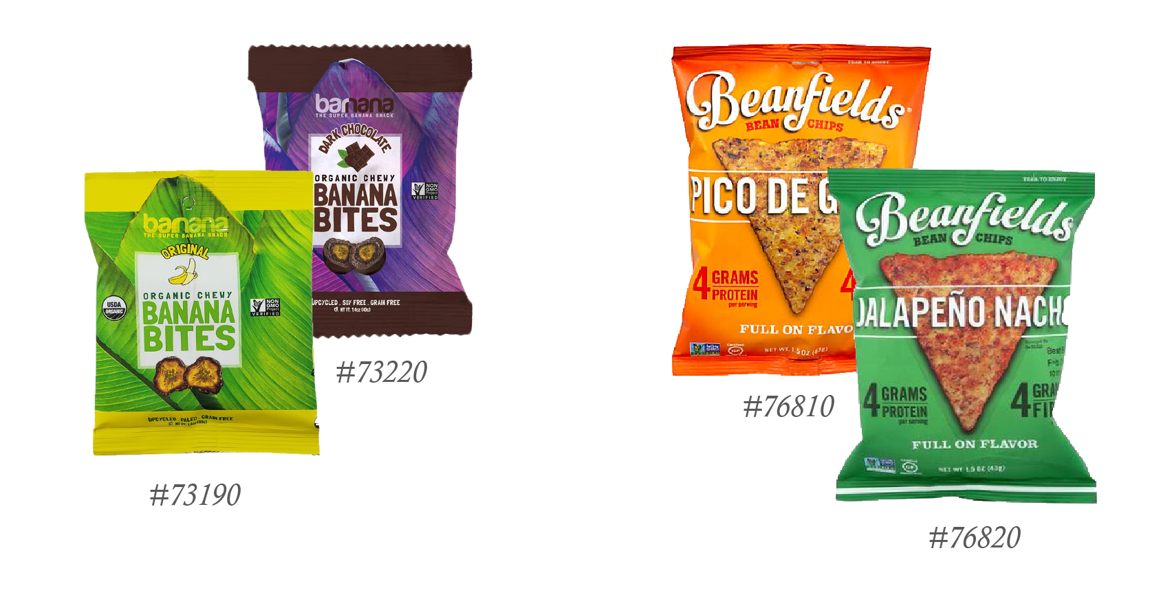 Two LA-based snack brands we carry.